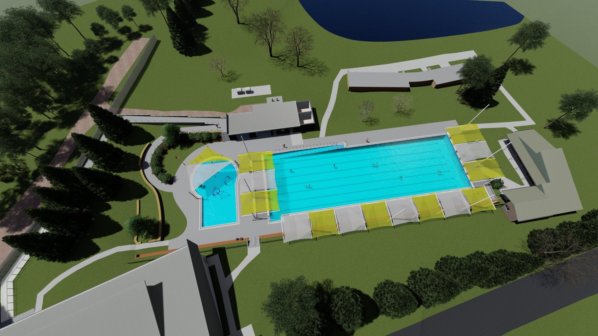 Aerial view of upgrade - concept design