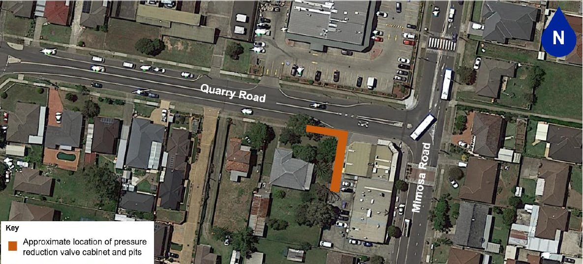 Quarry Road, Bossley Park - valve location