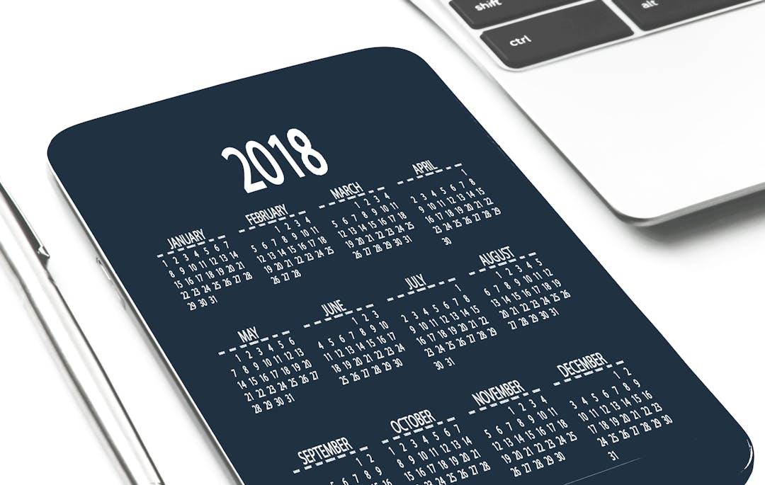Calendar date device 2018