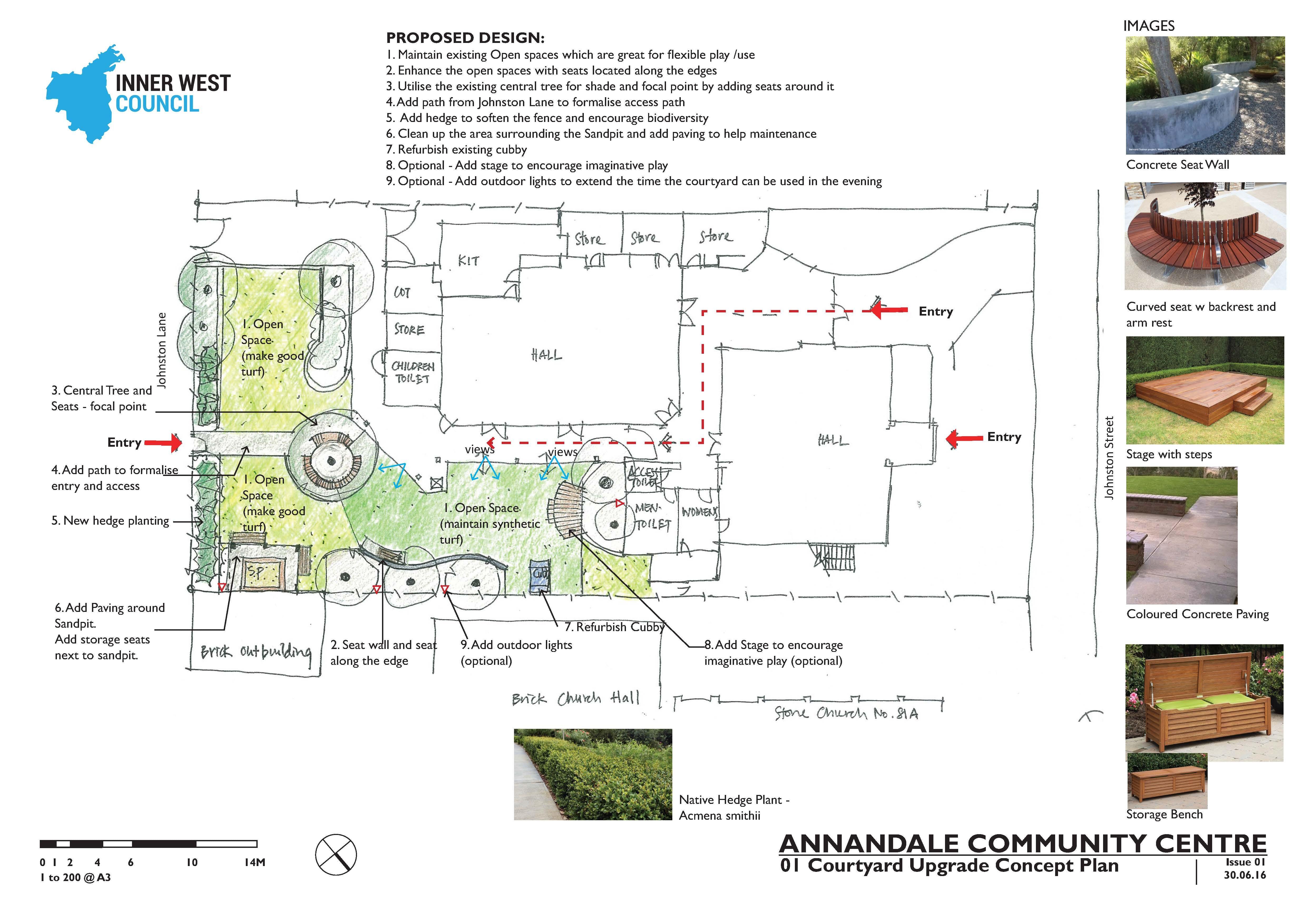 Annandale Community Centre Open Space Concept Plan