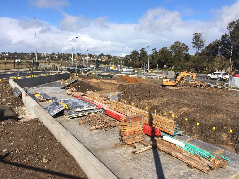 Chifley Skate Park Construction