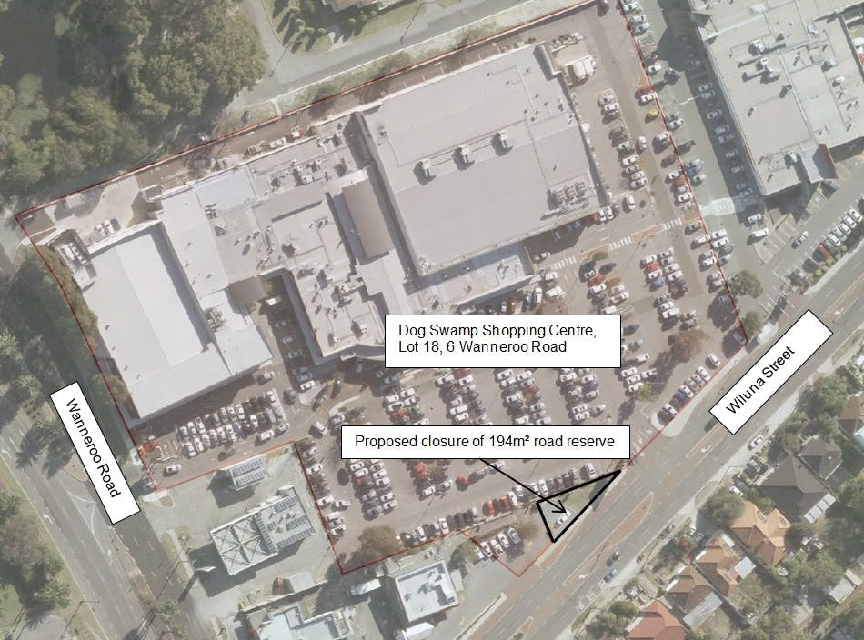 Aerial Photo of Road Reserve Closure