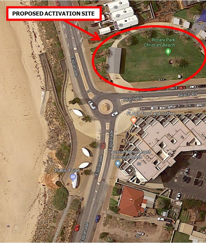 Proposed location - Cinema by the Sea