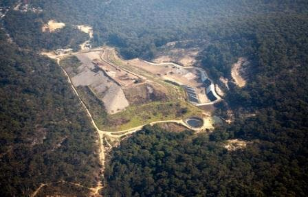 Aerial view of the Blaxland Waste Management Facility