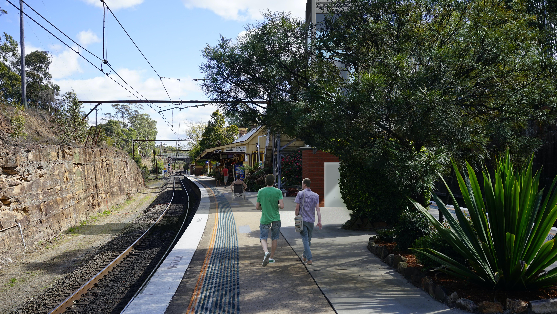 Artist impression of the Glenbrook Station Upgrade from the station platform- subject to detailed design