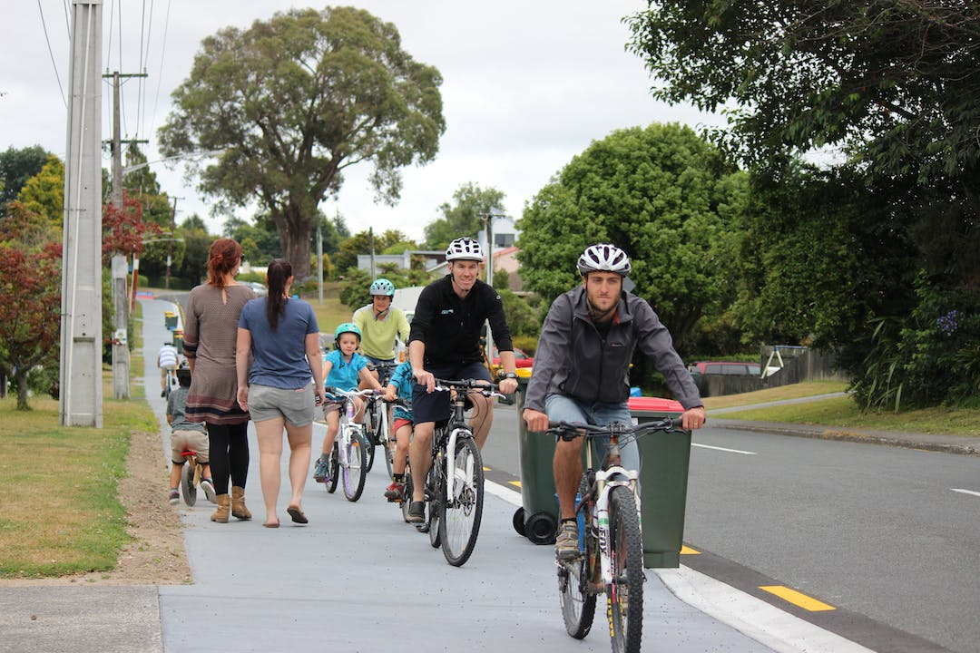 People using a shared path