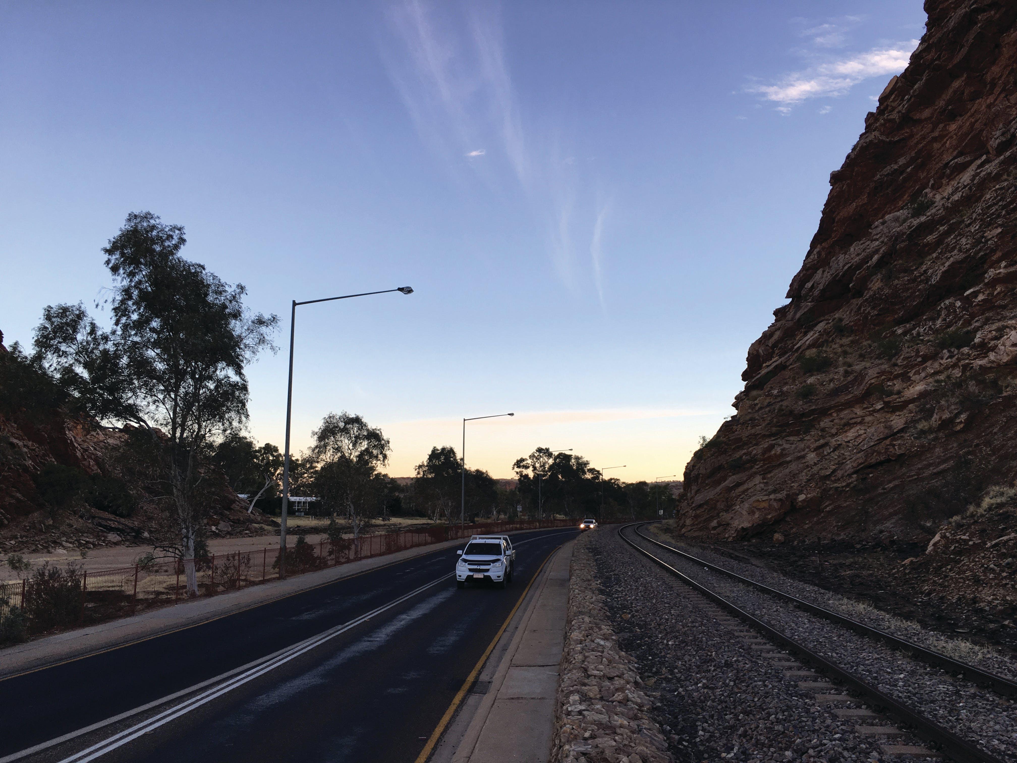 Twilight traffic at The Gap (Ntaripe)