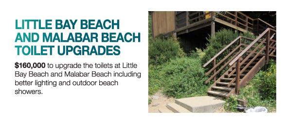 Little Bay Beach and Malabar Beach toilet upgrades