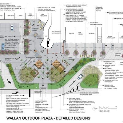 Wallan Town Heart Outdoor Plaza Detailed
