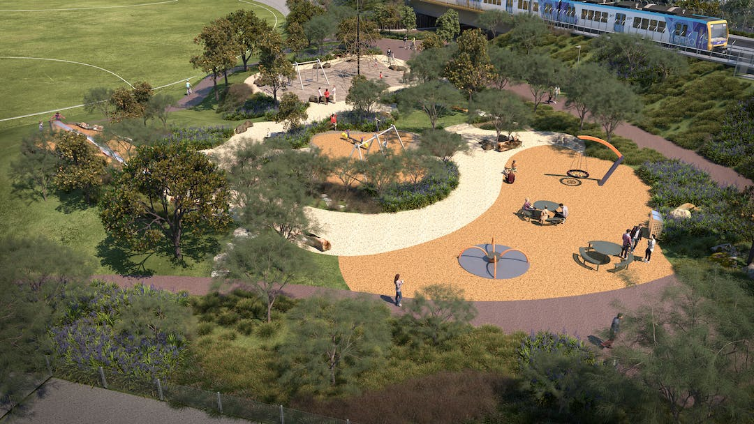 Artist impression of the new open space at R F Miles Reserve
