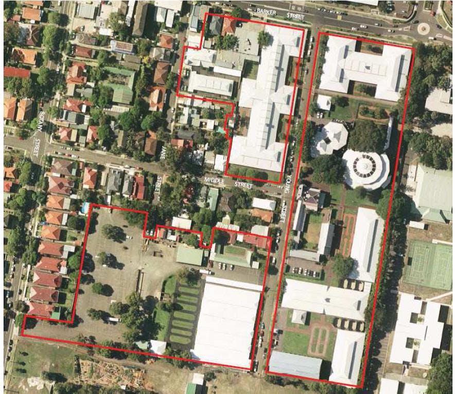Aerial - proposed development area