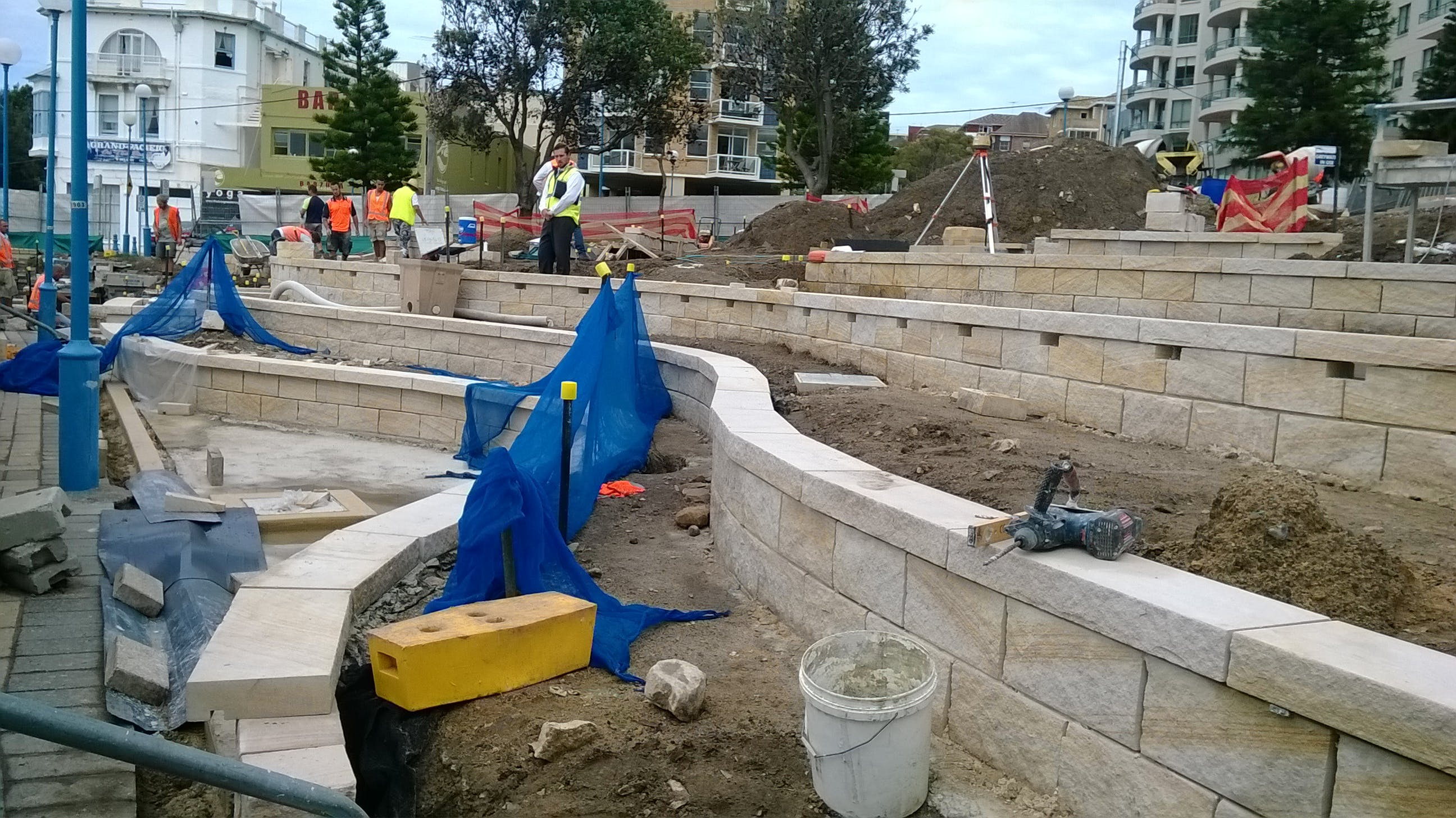 Construction of Fallen Lifesavers Memorial