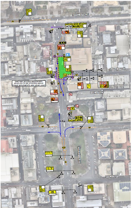 Traffic Group Australia: Road Closure: North Terrace to Grenfell Street 1-2 Feb 2020: Traffic Management Plan