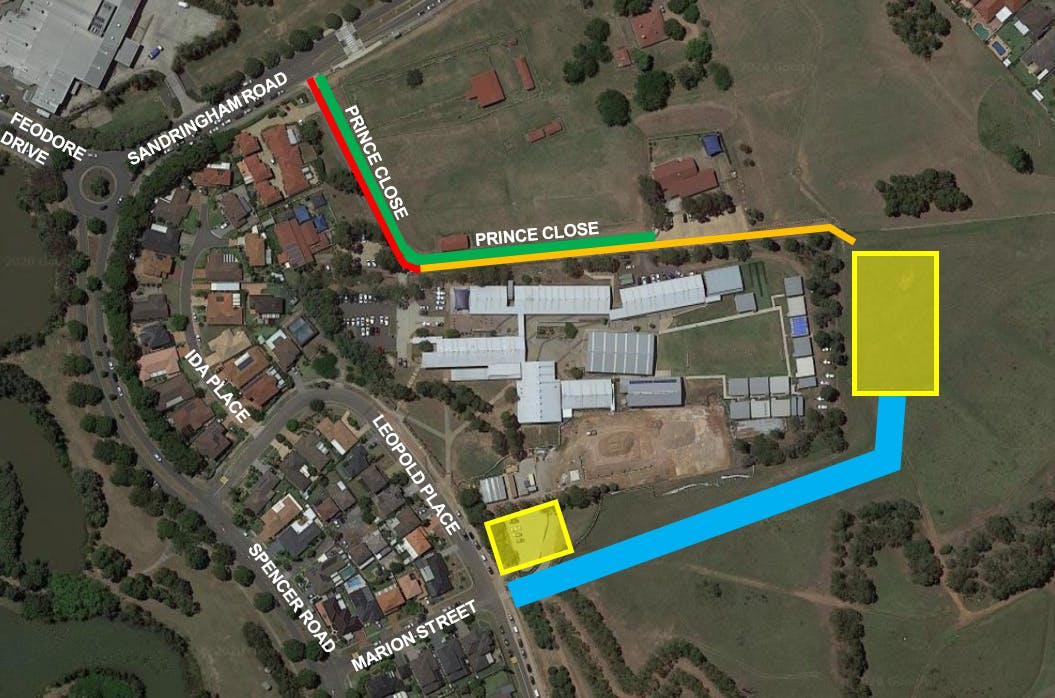 Cecil Hills Stage 1 Construction map.png