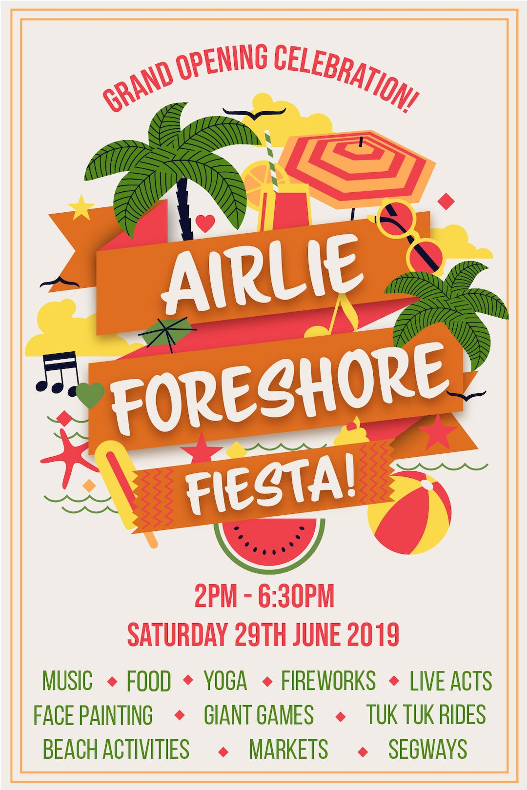 Airlie foreshore fiesta poster   final 01