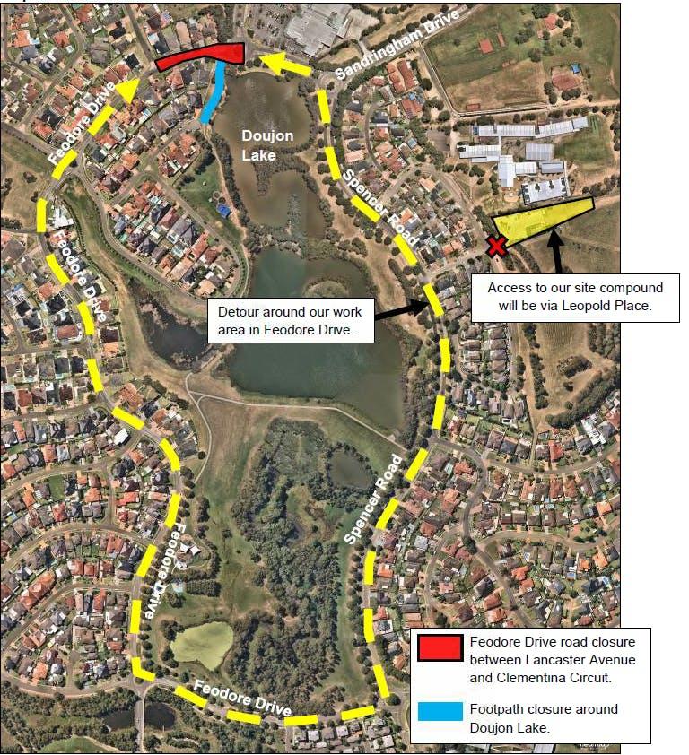 Cecil Hills - Feodore Drive Closures and Detour