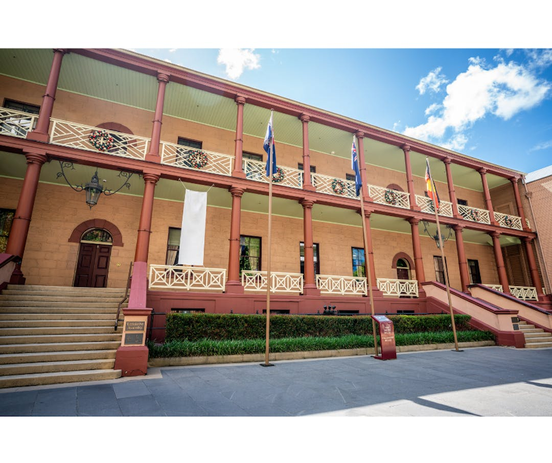 NSW Parliament House on a sunny day