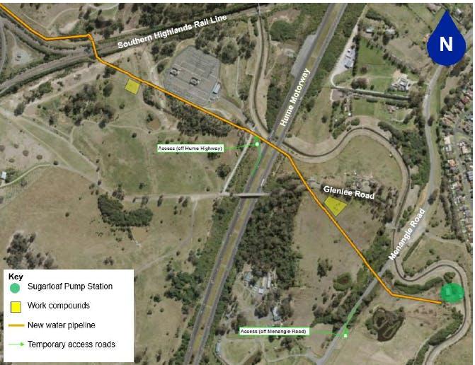 Menangle Park  - pipeline construction July 2021 - June 2022
