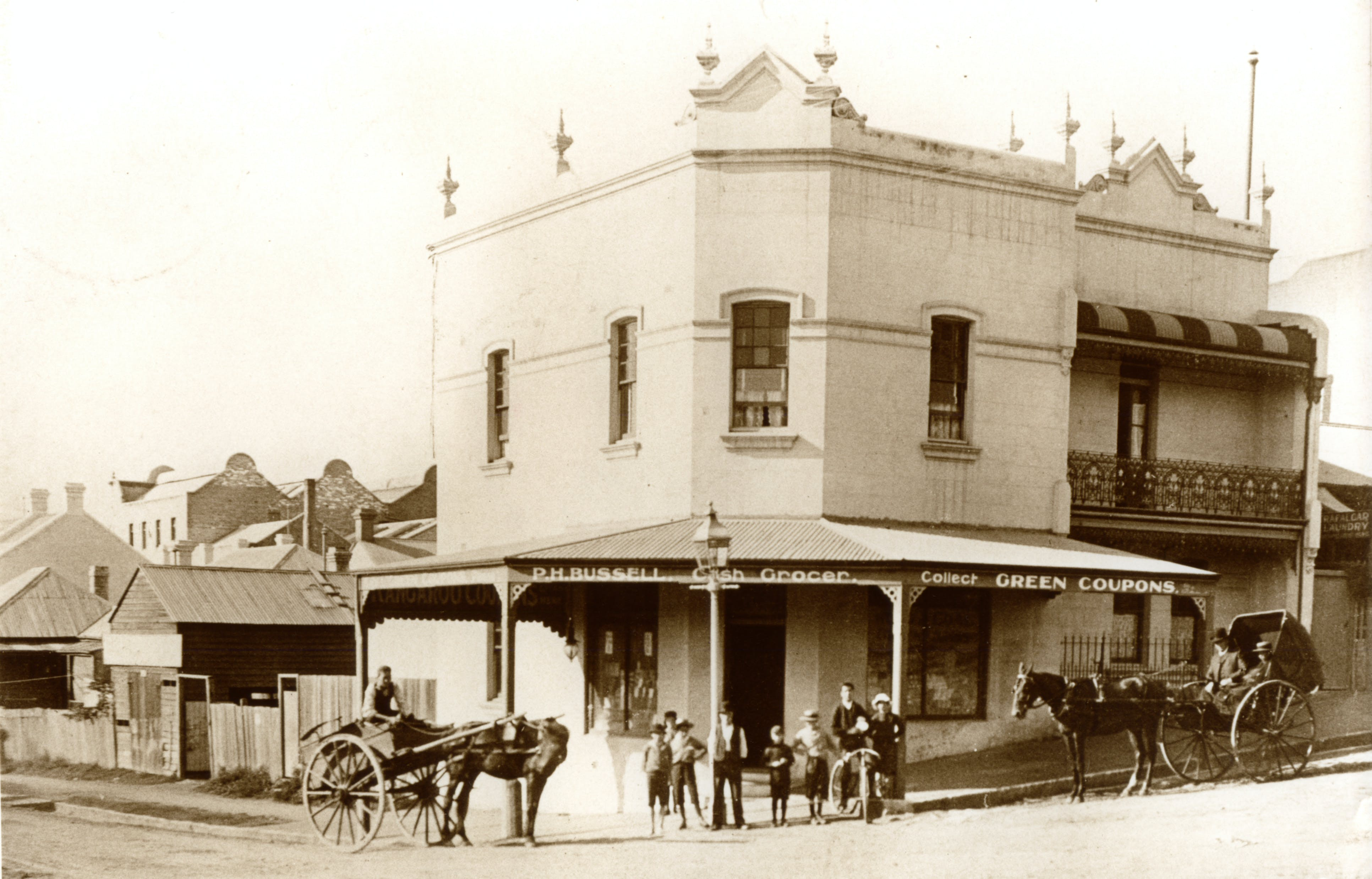 P H Bussell 1895, 127 Trafalgar Street, Annandale