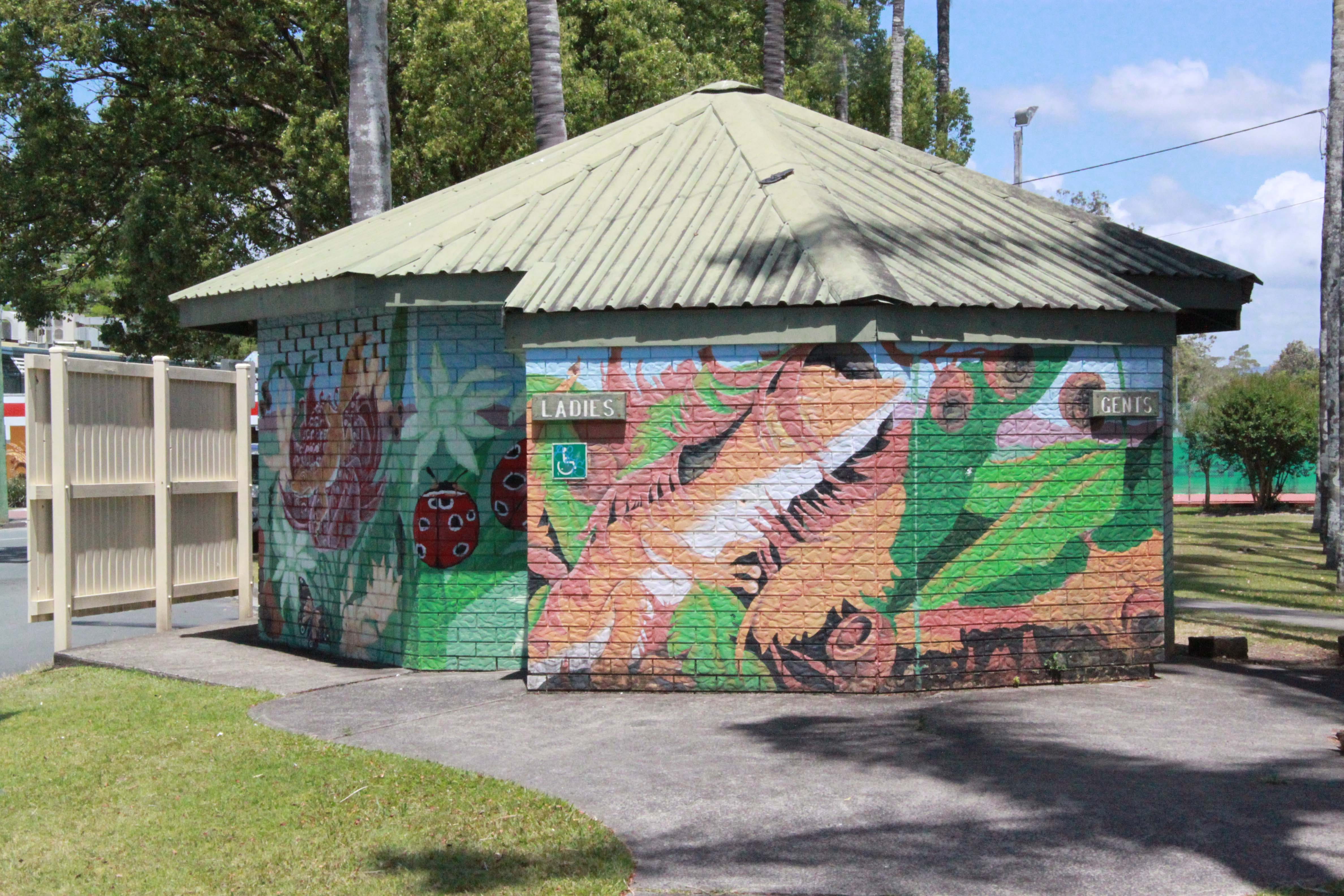 The existing public toilet block (left) has been earmarked to be replaced by a more centralised and improved toilet facility.