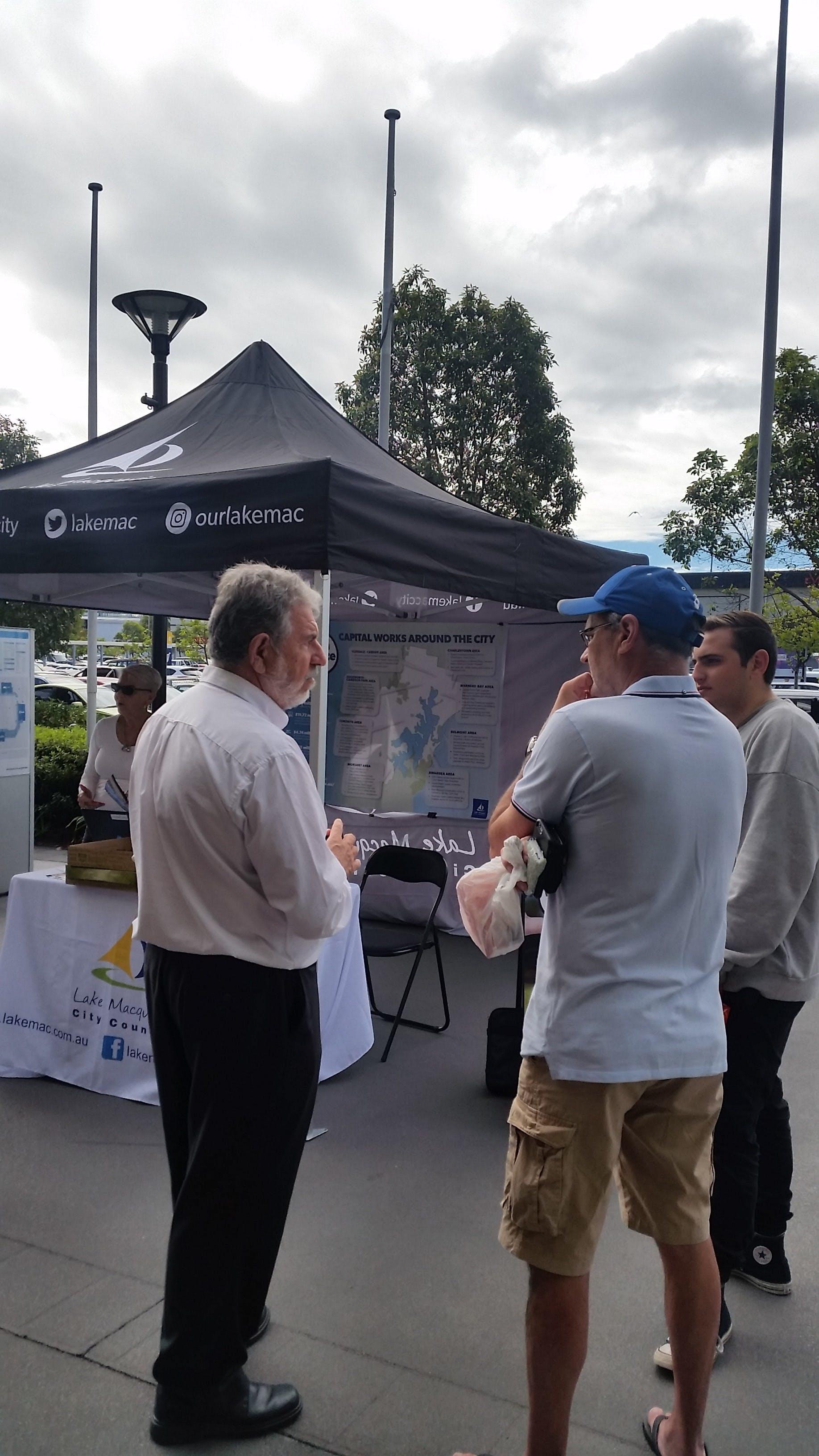 Clr Brian Adamthwaite speaks with locals about what's planned in 2017-2018