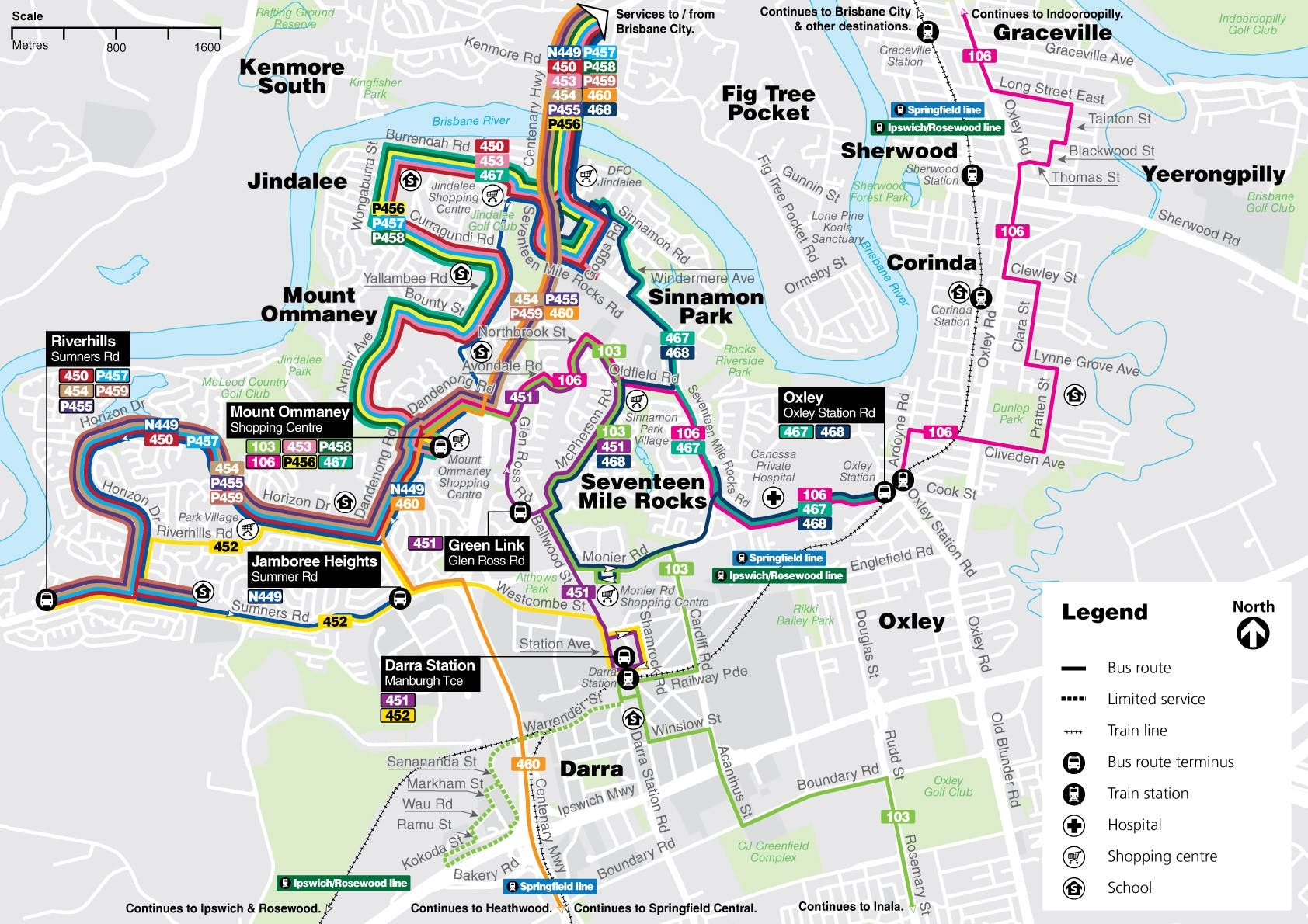 Centenary bus routes