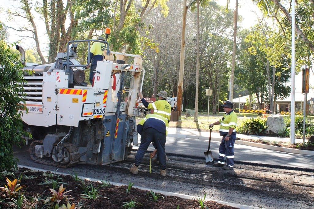 Main Street Resealing Works In Progress: 10-07-18