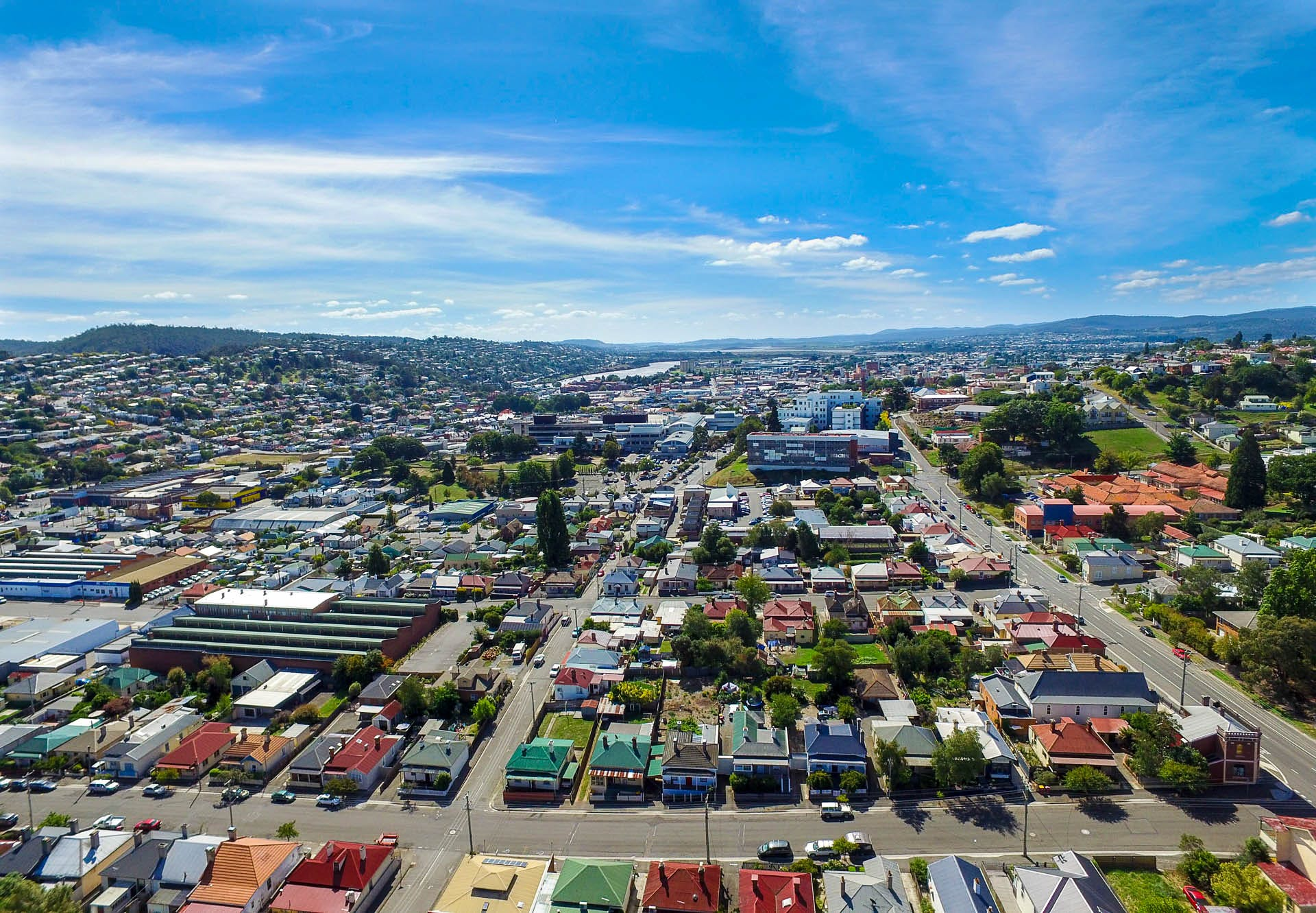 Aerial view Launceston