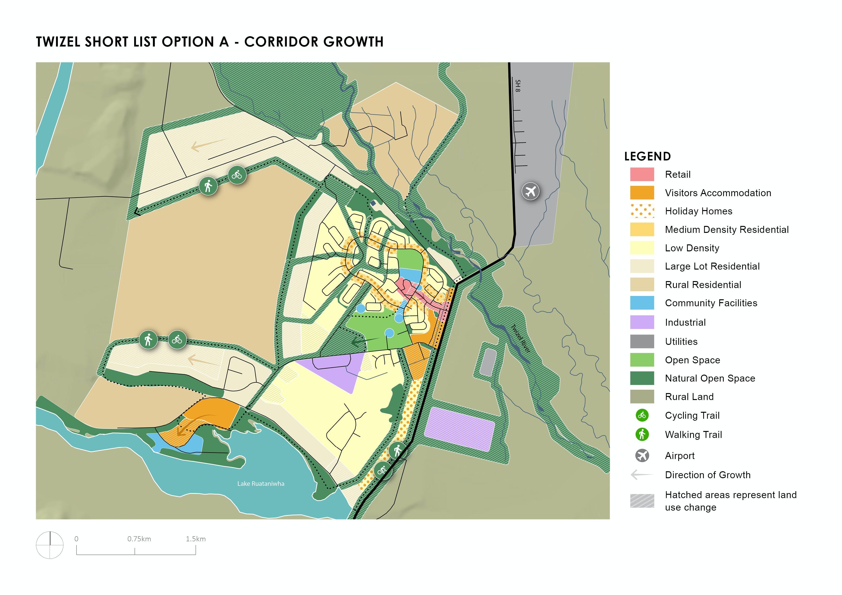 Twizel Shortlist Option A - Corridor Growth