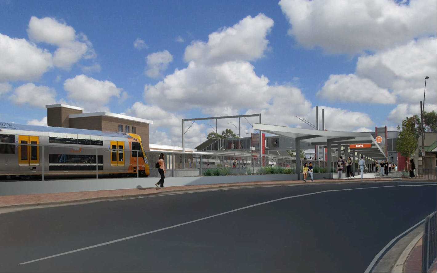 Artist's impression of Rooty Hill Station Upgrade