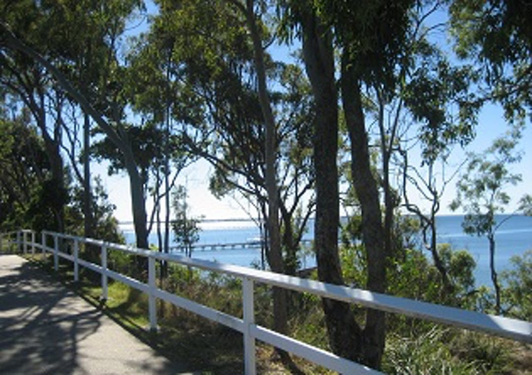 View of Moreton Bay and pier from top of Shorncliffe Escarpment