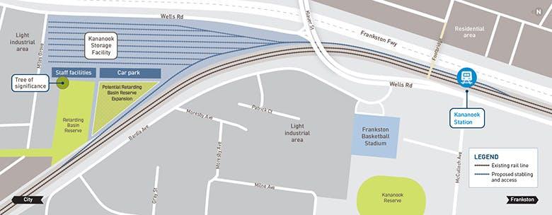 Kananook Train Storage Facility Location
