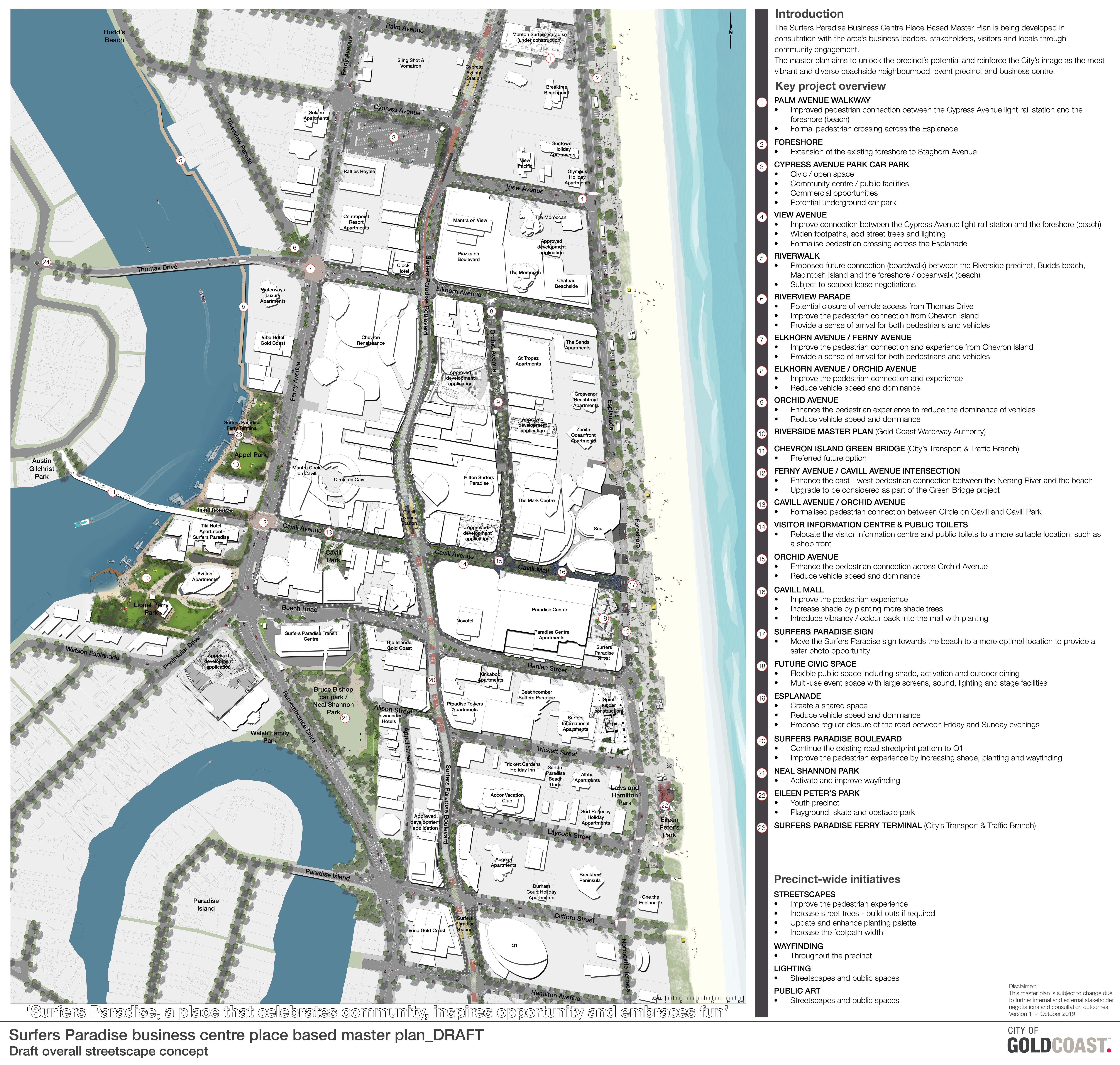 Surfers Paradise business centre place based master plan