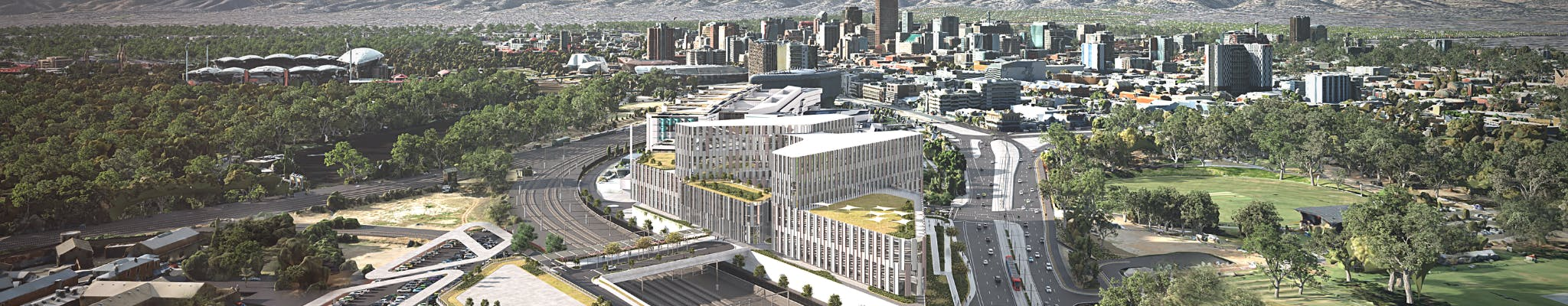 Artist's impression of the New Women's and Children's Hospital facing east