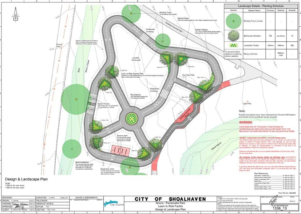 Learn to Ride - Detailed Design and Landscape Plan