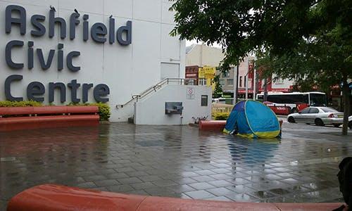 Tent Outside Ashfield Civic Centre