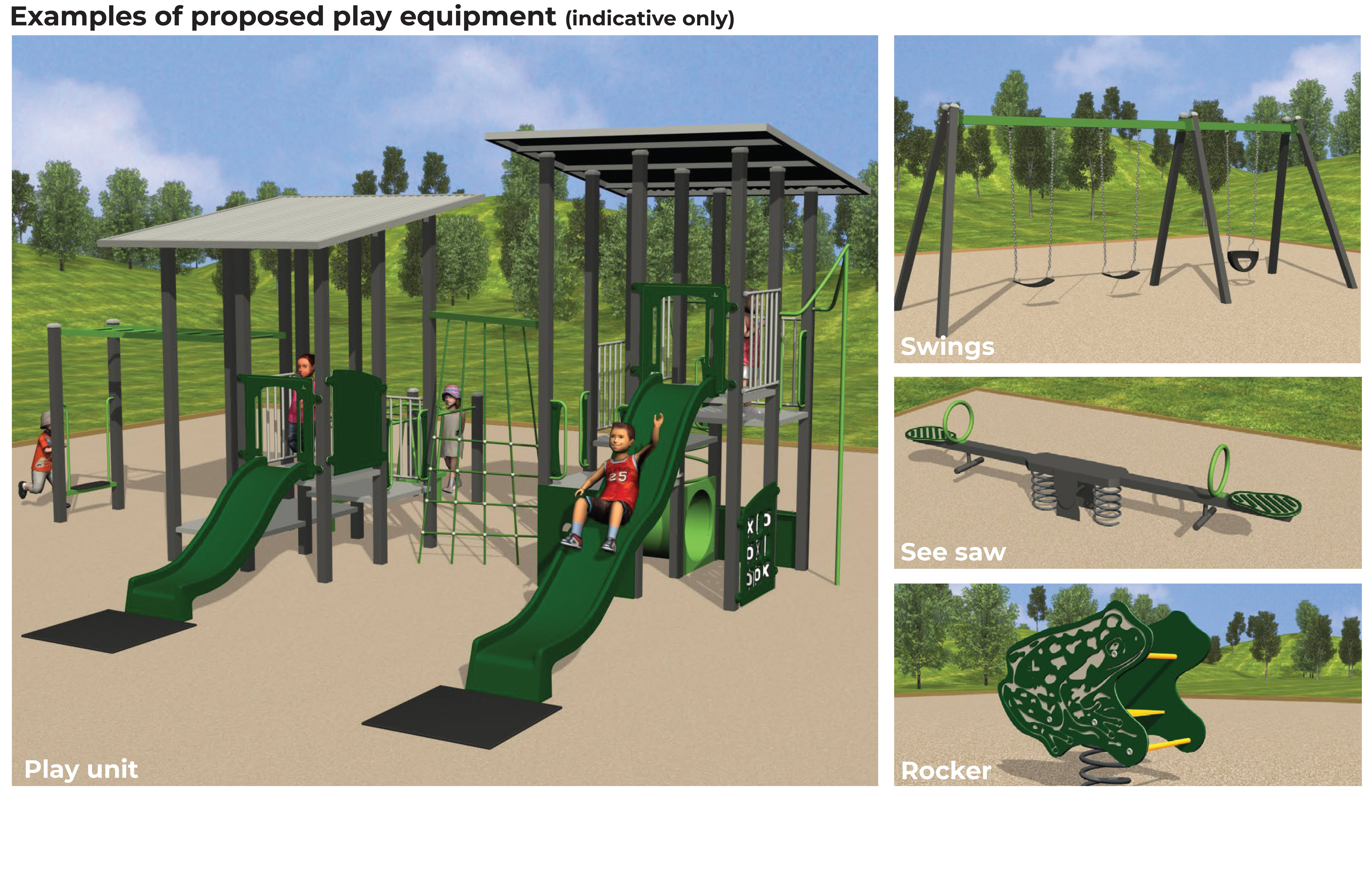 Greenfield Court Reserve - Proposed Play Equipment