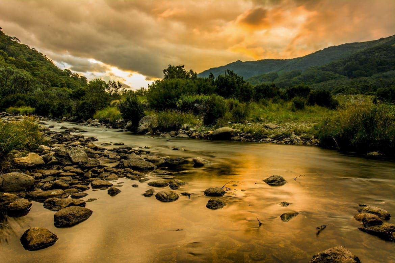 Amy rendell   landscape   golden storm in thredbo