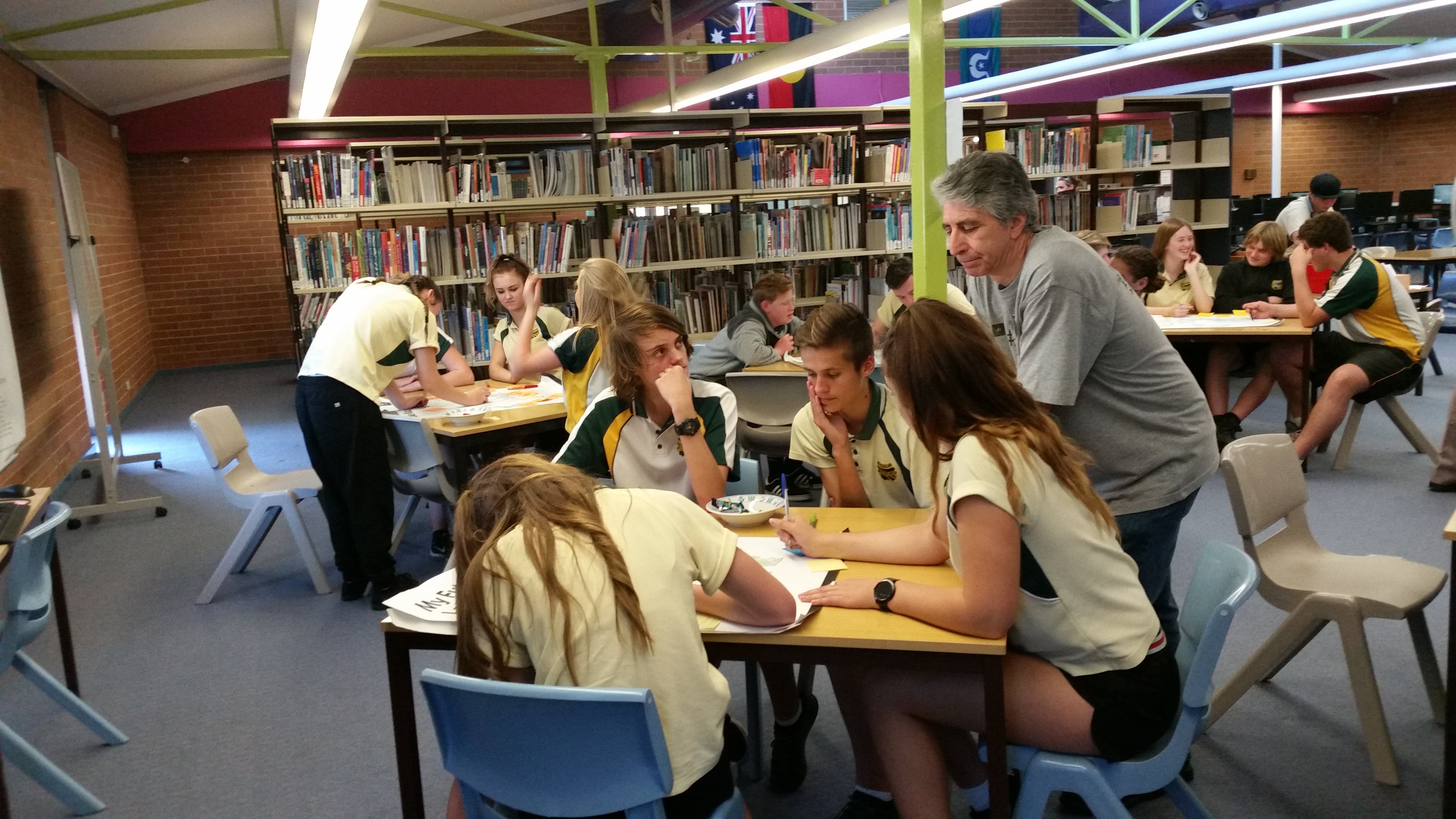 Morisset High School students sharing their ideas for a future Lake Mac