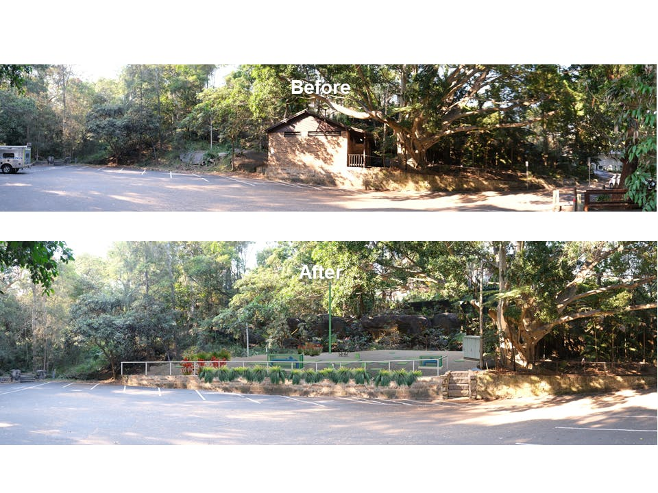 Artist impression - Parsley Bay before and after
