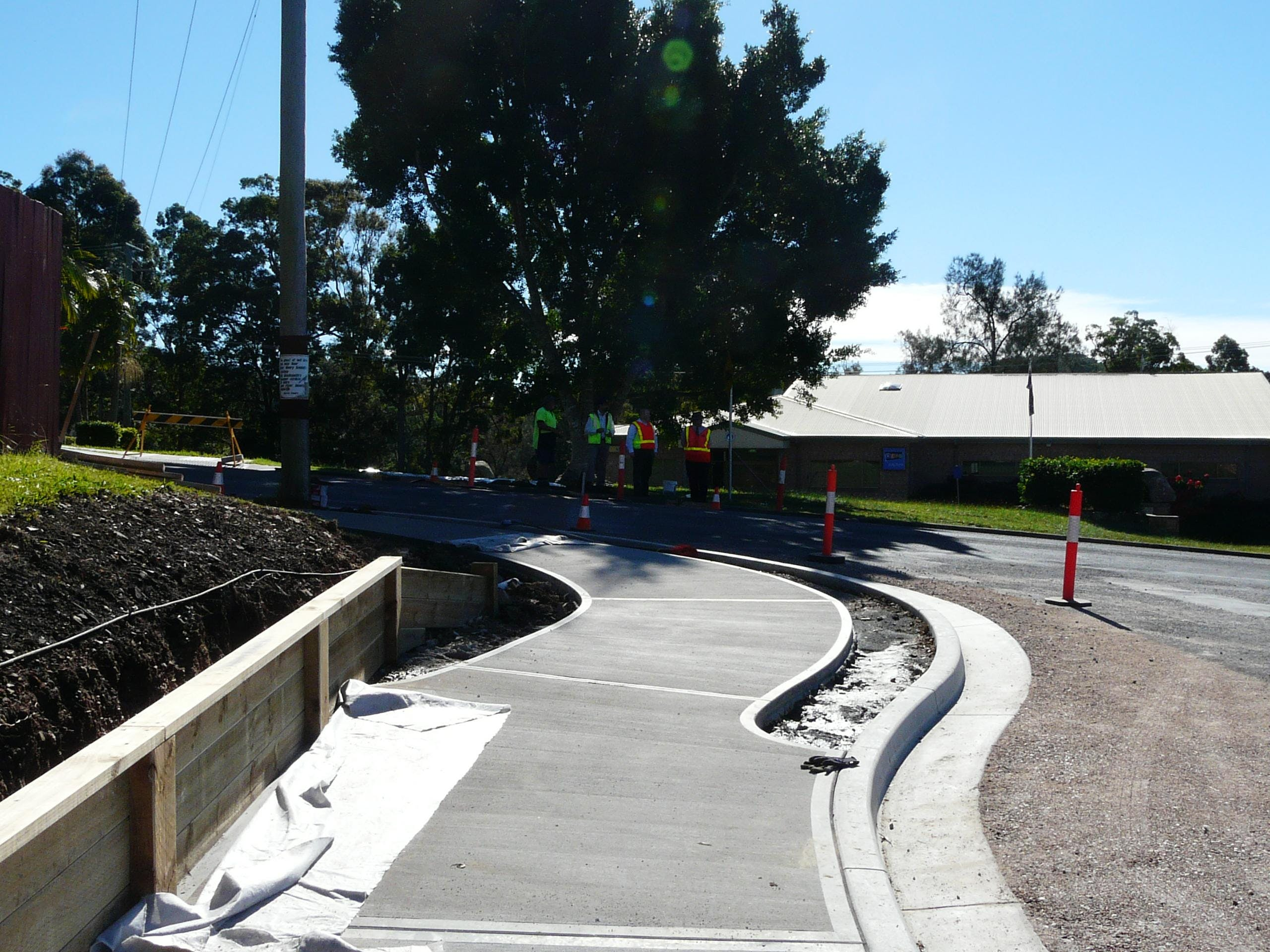 Building new footpaths