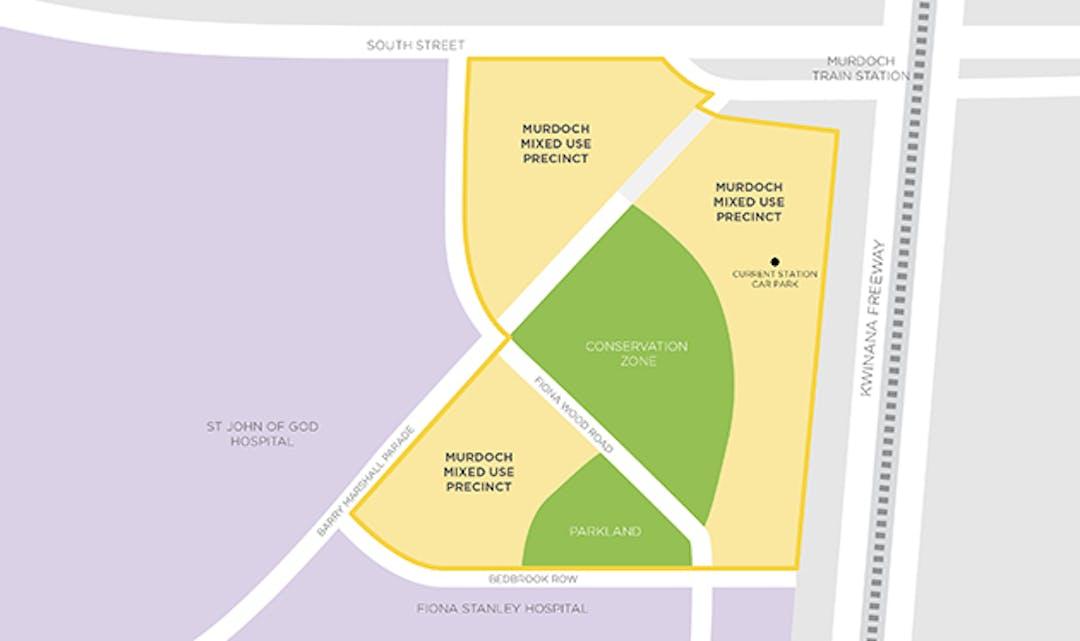 Murdoch mixed use precinct site map