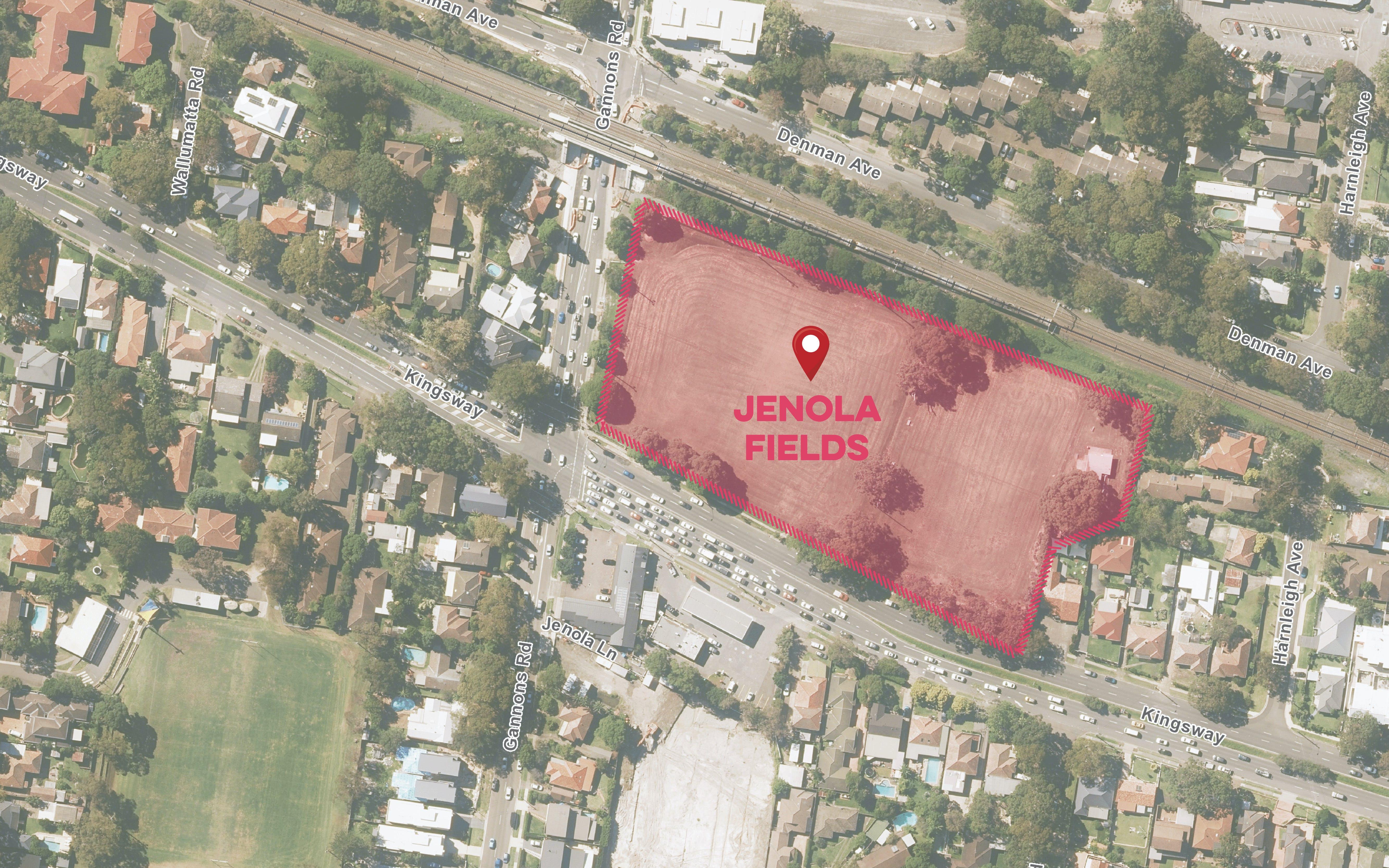 Map of Jenola Fields