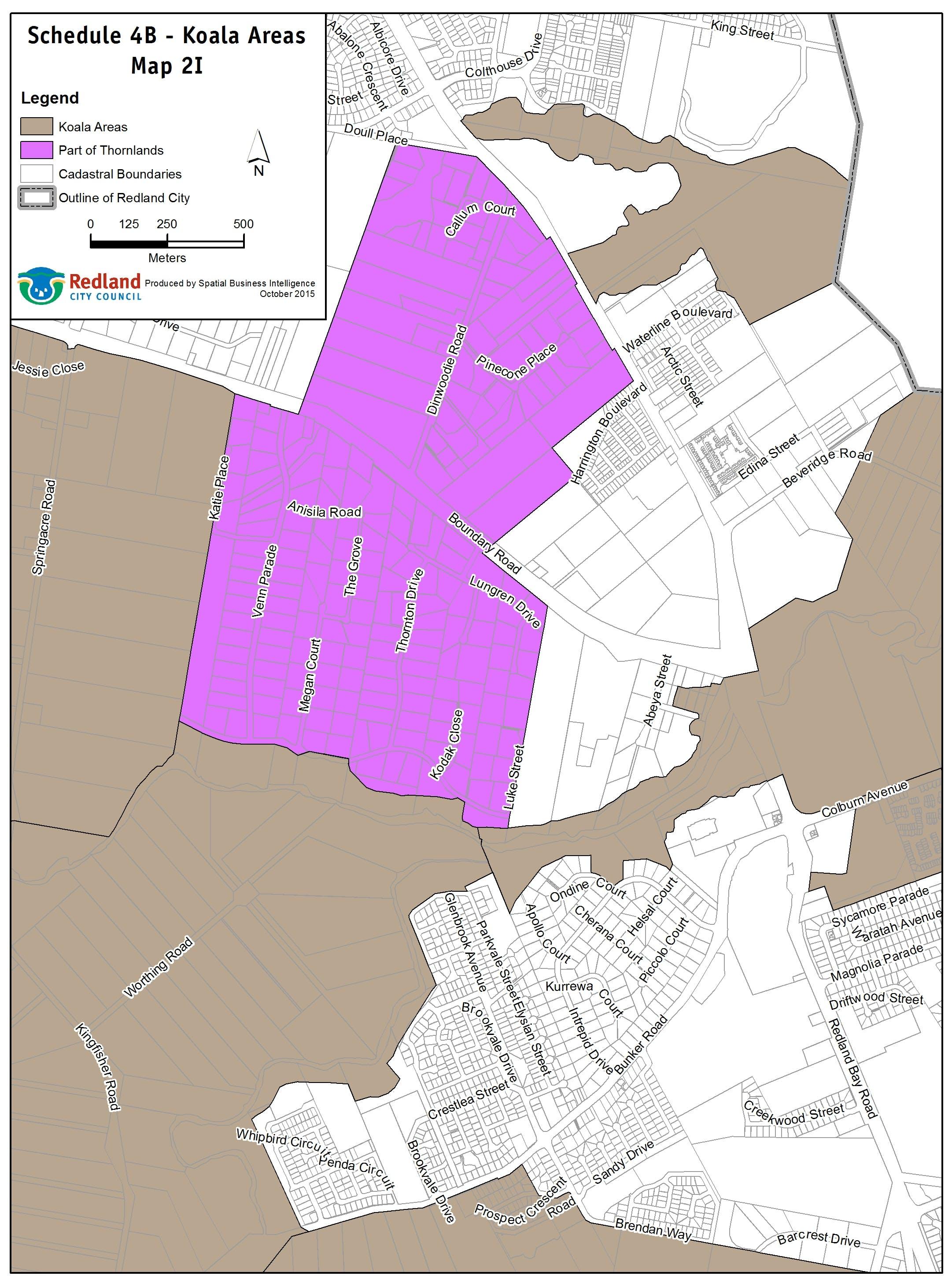 Koala Areas - Map 2I