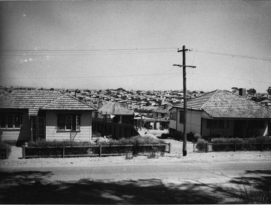 Hilton Streetscape - 1954