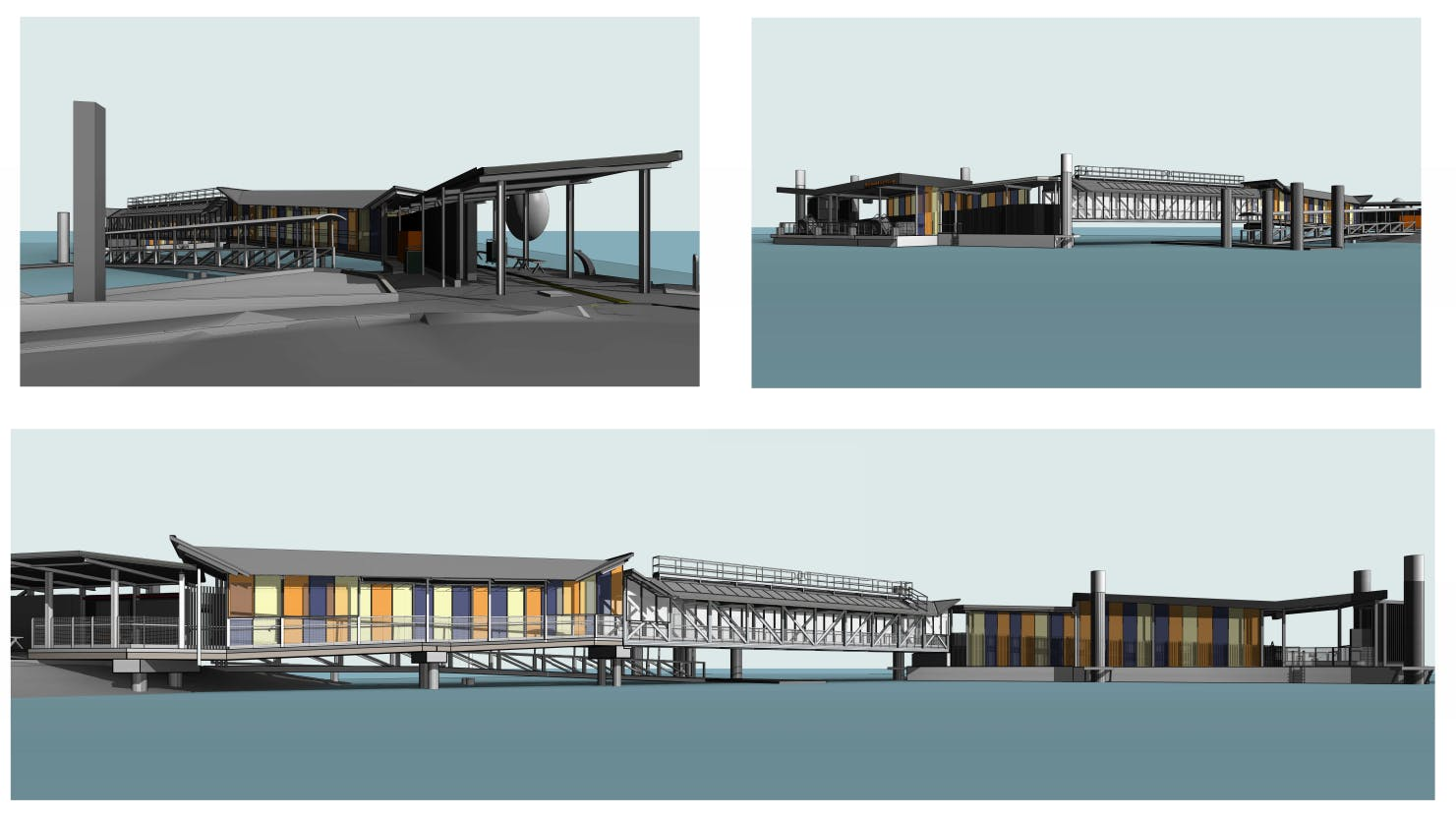 3D images of the future Lamb Island ferry terminal