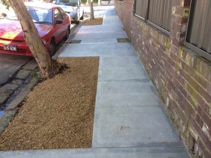 Extended Tree Pit Footpath