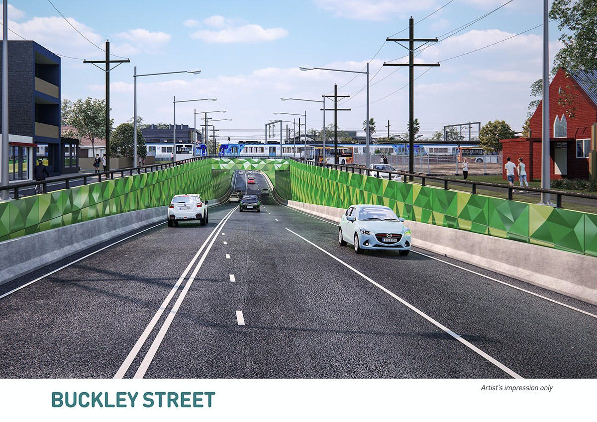 Buckley Street - Artist impression only