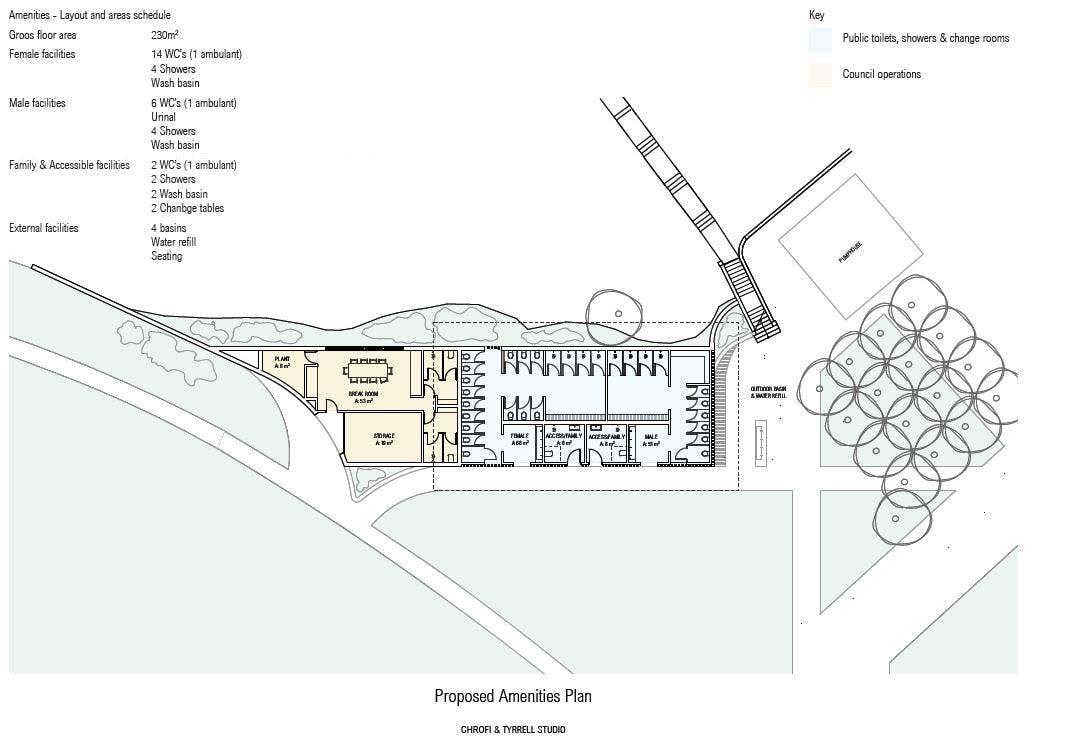 Facilities floorplan