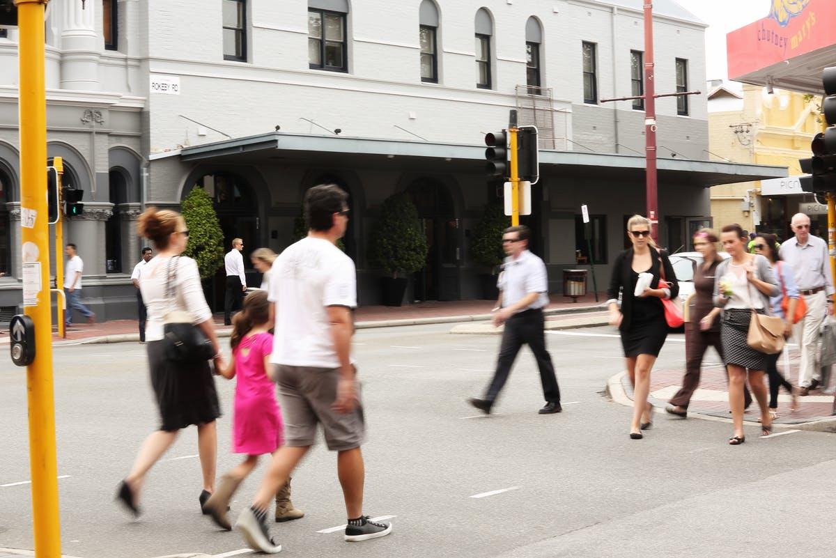 Hay Street and Rokeby Road junction - Pedestrians Crossing